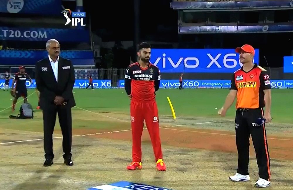SRH win toss, opt to bowl against RCB. (Photo :BCCI/IPL) (Strictly not for sale)