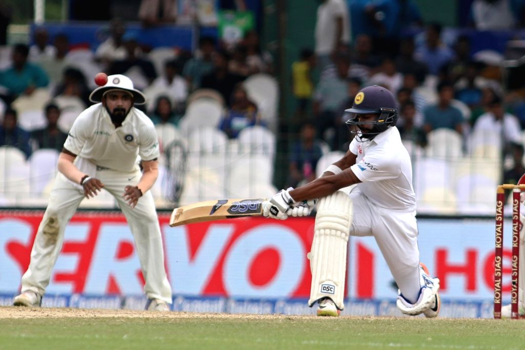Sri Lanka's Niroshan Dickwella in action on Day 4 of the second test match between India and Sri Lanka at Sinhalese Sports Club Ground in Colombo, Sri Lanka on Aug 6, 2017.