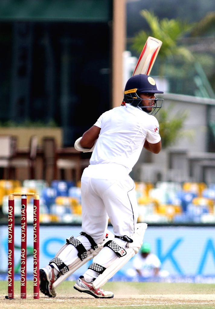 Sri Lankan batsman Kusal Mendis plays a shot on Day 3 of the second test match between India and Sri Lanka at Sinhalese Sports Club Ground in Colombo, Sri Lanka on Aug 5, 2017. - Kusal Mendis