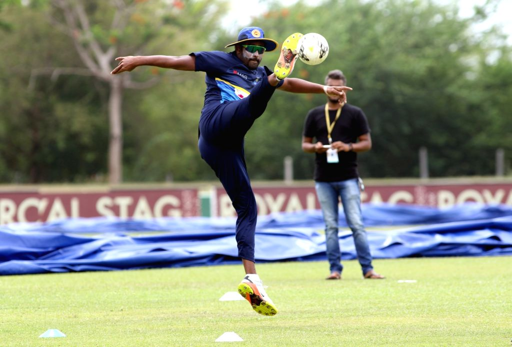 Sri Lankan cricketer Thisara Perera during a practice session ahead of the first one-day international cricket match against India in Dambulla, Sri Lanka on Aug 19, 2017.