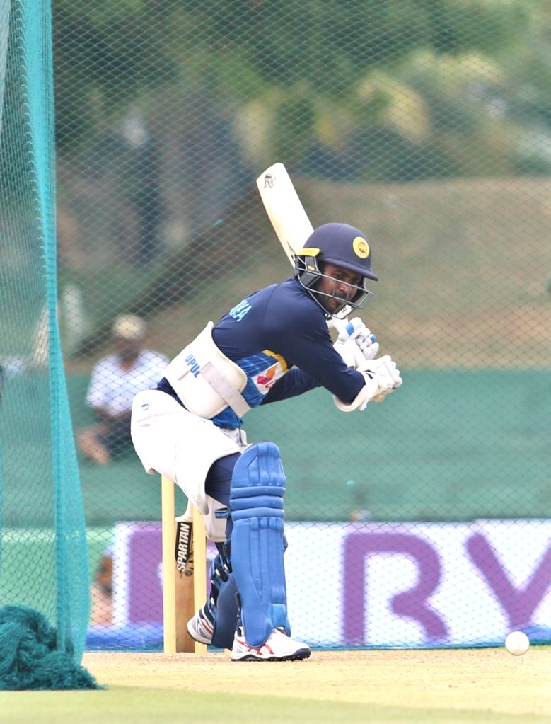 Sri Lankan cricketer Upul Tharanga in action during a practice session ahead of the first one-day international cricket match against India in Dambulla, Sri Lanka on Aug 19, 2017.