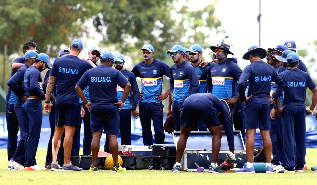 Sri Lankan cricketers during a practice session ahead of the first one-day international cricket match against India in Dambulla, Sri Lanka on Aug 19, 2017.