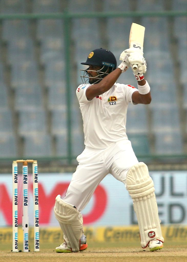 Sri Lankan skipper Dinesh Chandimal during Day 4 of the third test match between India and Sri Lanka at Feroz Shah Kotla Stadium in New Delhi on Dec 5, 2017.