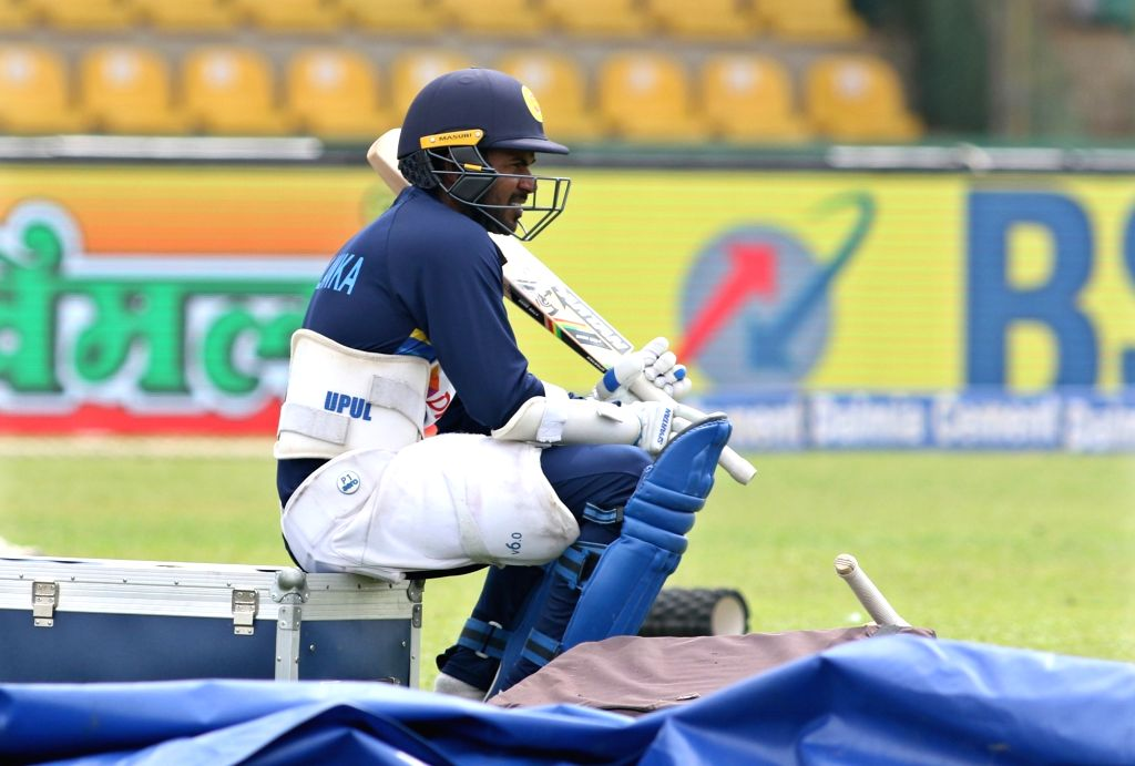 Sri Lankan skipper Upul Tharanga during a practice session ahead of the first one-day international cricket match against India in Dambulla, Sri Lanka on Aug 19, 2017.