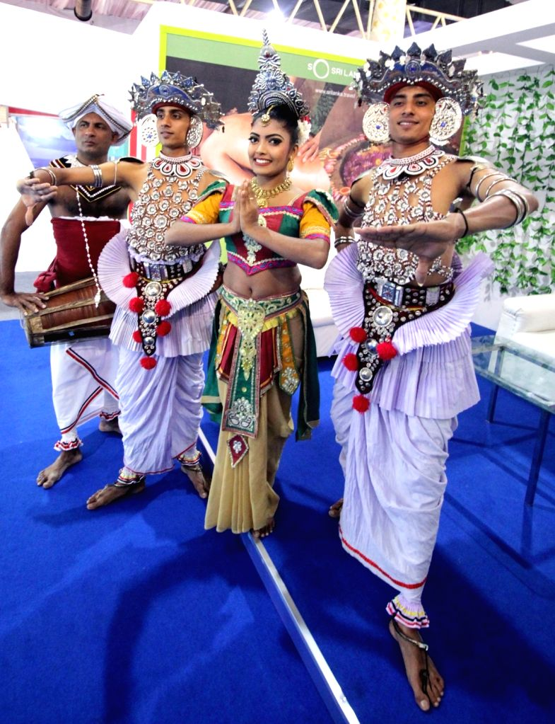 Sri Lankan traditional artistes at the inauguration of the Travel Trade Fair Bengaluru 2020, at Palace Grounds, in Bengaluru on Feb 07, 2020.