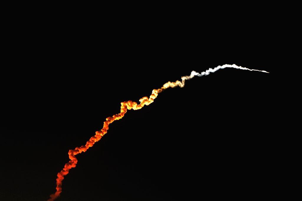 Sriharikota (Andhra Pradesh): PSLV-C46 carrying the RISAT-2B satellite, lifts off from the Satish Dhawan Space Centre (SDSC) SHAR, Sriharikota, in Andhra Pradesh, on May 22, 2019.
