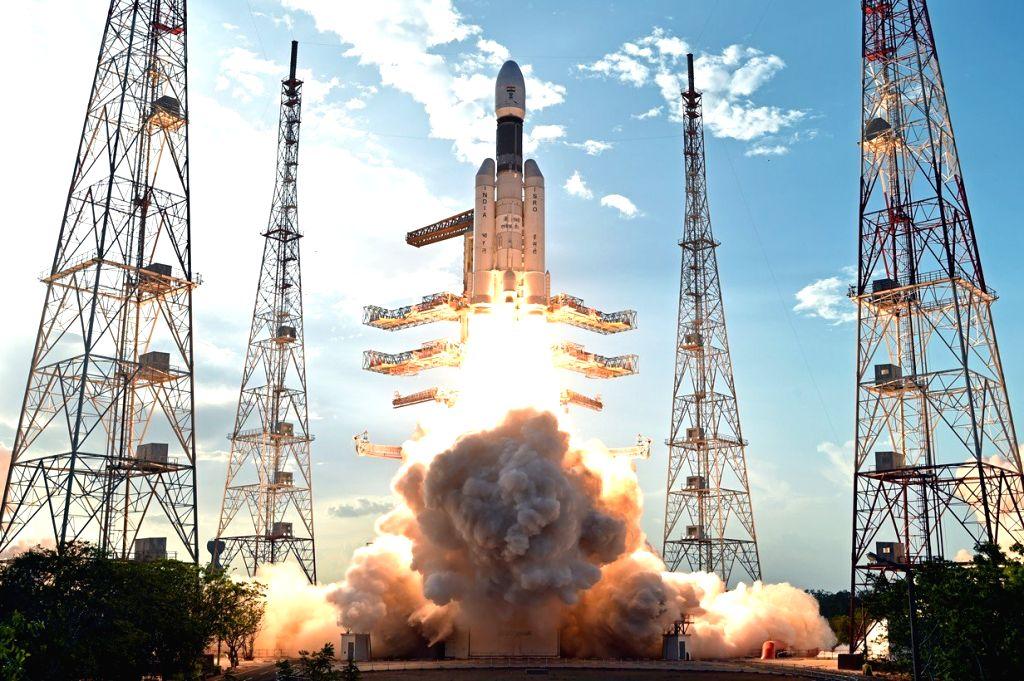 Sriharikota: India's brand new and heaviest rocket - the Geosynchronous Satellite Launch Vehicle-Mark III (GSLV-Mk III) - with the 3,136 kg communication satellite GSAT-19 on board blasts off from the Sriharikota spaceport on June 5, 2017. (Photo: IA