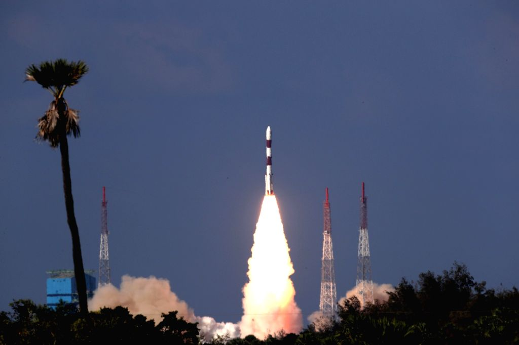 Sriharikota: India's Polar Satellite Launch Vehicle-QL (PSLV-QL) rocket carrying the country's advanced radar imaging earth observation satellite RISAT-2BR1 and nine foreign satellites lifts off from the first launch pad of the rocket port in Srihari