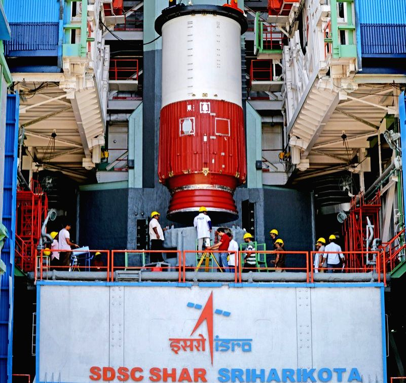 Sriharikota: PSLV-C46 is set to launch RISAT-2B from Satish Dhawan Space Centre on 22nd May, 2019; in Sriharikota on May 11, 2019. (Photo: IANS/ISRO)