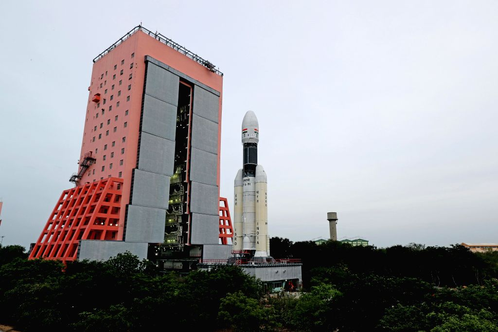 Sriharikota: The first images of 'Baahubali', India's heaviest rocket GSLV MkIII-M, were released by ISRO on Wednesday ahead of India's second moon mission 'Chandrayaan-2', which is scheduled to launch on July 15 from Sriharikota in Andhra Pradesh. T