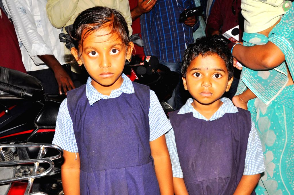 Srilatha and Priya who were rescued by Secunderabad police from the clutches of kidnappers on Aug 11, 2014.