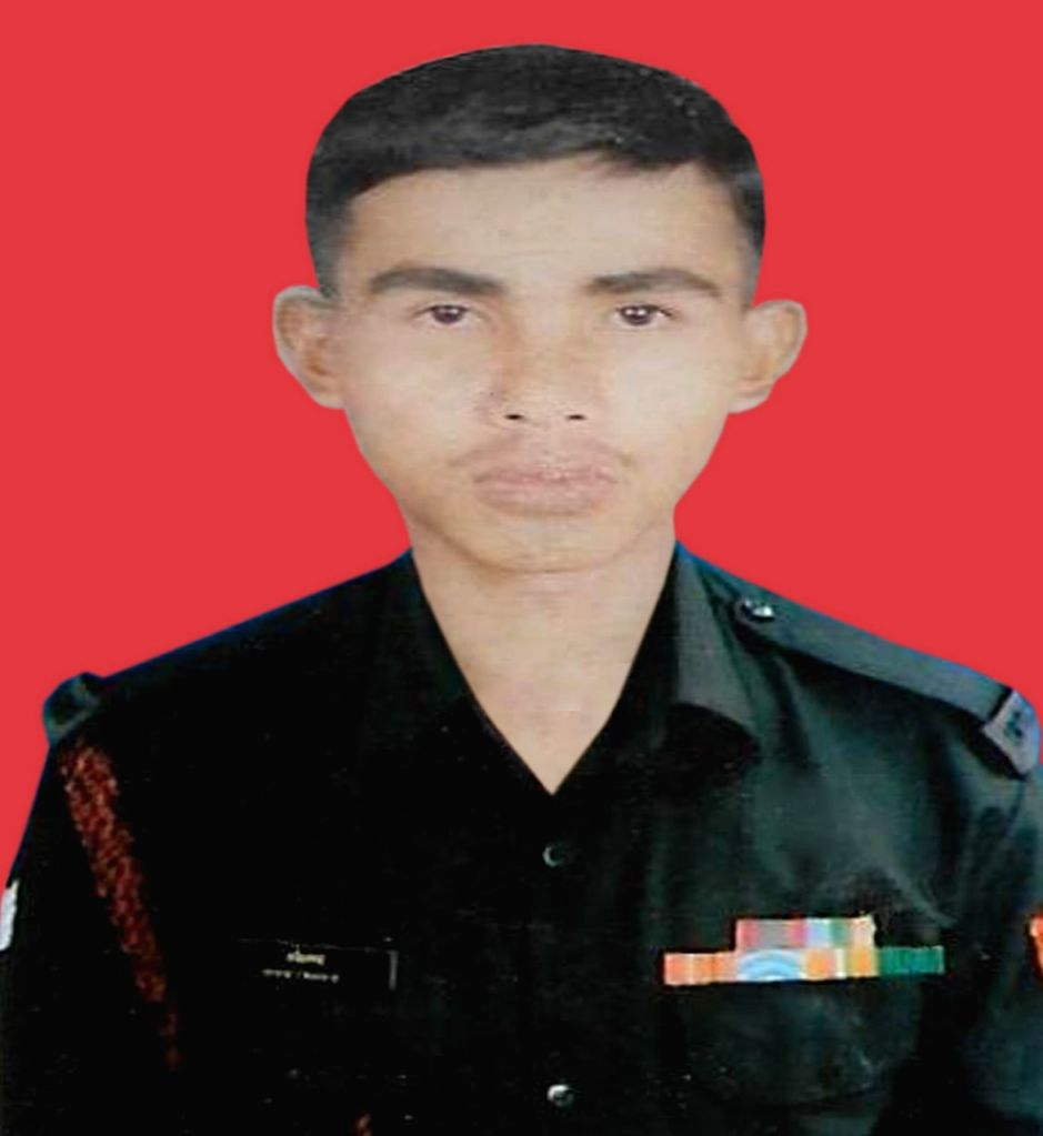 Srinagar: Assam's braveheart martyred in Pakistani attack in Jammu and Kashmir, November 14, 2020. (Photo: IANS)