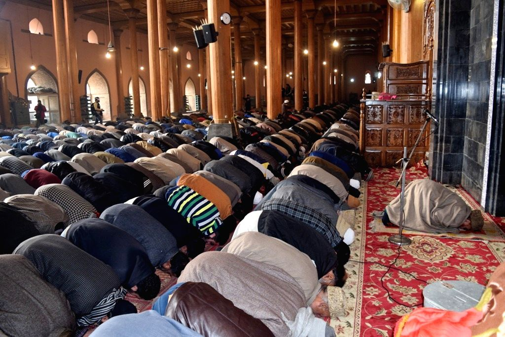 Srinagar, Aug 21 (IANS) After five months, congregational Friday prayers were again offered in the historic Jamia Masjid in Srinagar.