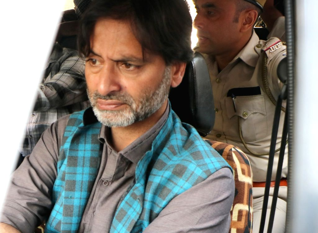 Srinagar: Jammu and Kashmir Liberation Front (JKLF) chairman Yasin Malik, who was detained in Srinagar to prevent an anti-poll campaign on Oct 2, 2018. (Photo: IANS) - Malik