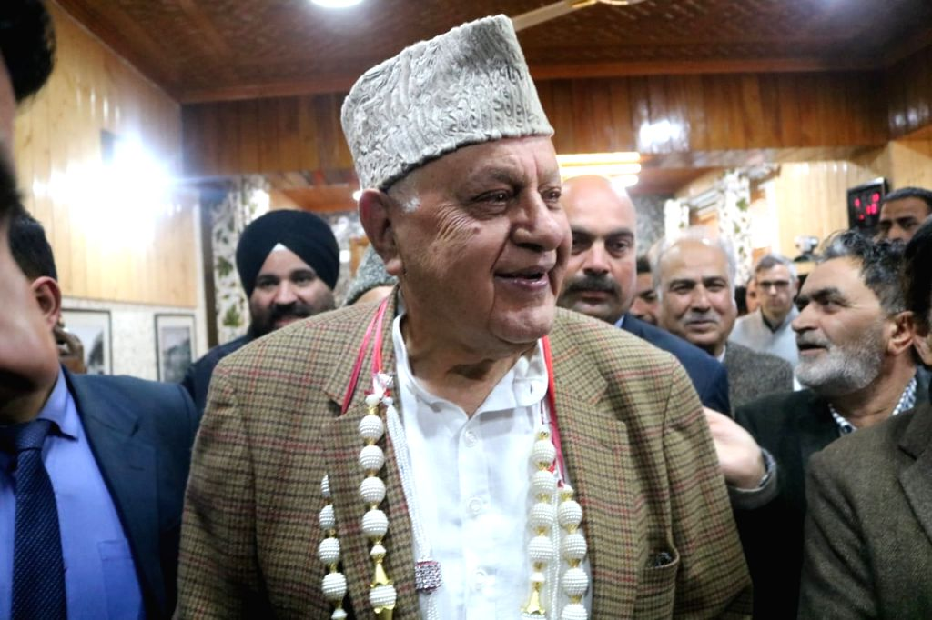 Srinagar: National Conference (NC) President and former Chief Minister Farooq Abdullah arrives to file his nomination papers for the Srinagar Lok Sabha seat of Jammu and Kashmir, on March 25, 2019. (Photo: IANS) - Farooq Abdullah