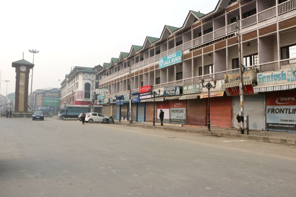 Srinagar: Roads wear a deserted look during a strike called by Joint Resistance Leadership (JRL), a separatist conglomerate headed by Syed Ali Geelani, Mirwaiz Umer Farooq and Yasin Malik in Srinagar, on Nov 26, 2018. (Photo: IANS) - Malik