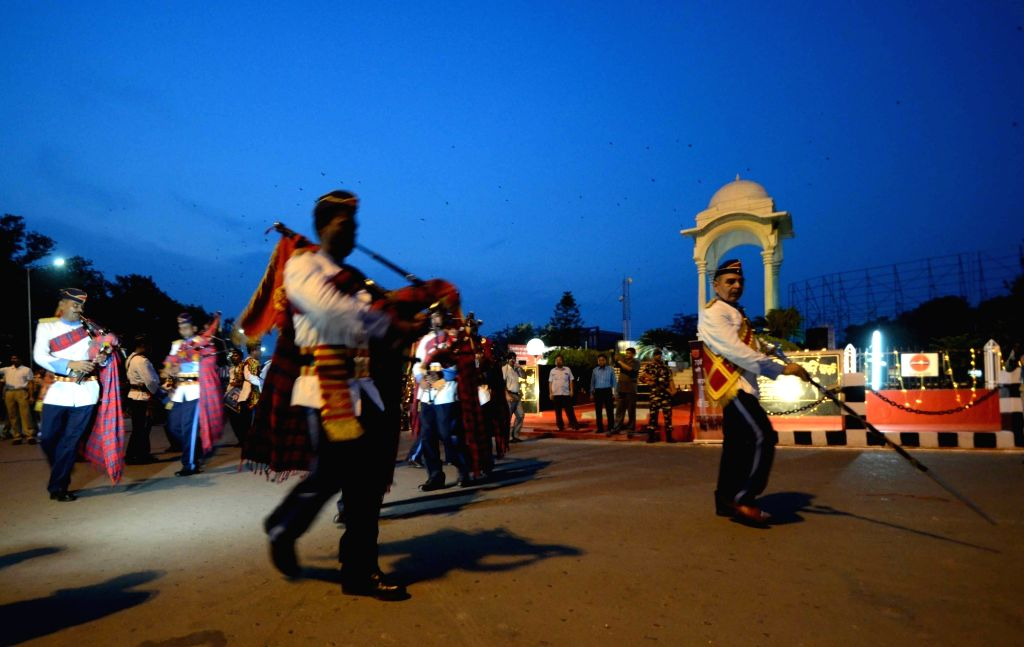 SSB personnel perform on the eve of Independence Day in Patna on Aug 14, 2016.