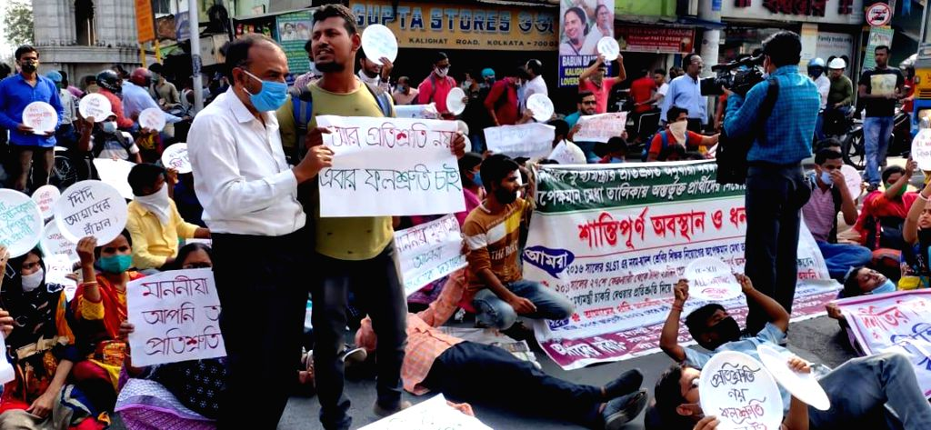 SSC passed, agitated near State Chief Minister Mamata Banerjee's house, against the waiting list in Kolkata on Tuesday 02nd March, 2021. - Mamata Banerjee