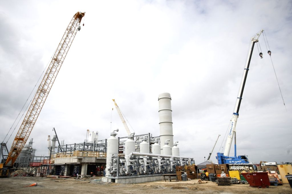 ST. JAMES PARISH (U.S.), March 1, 2019 The photo taken on Feb. 28, 2019 shows the construction site of Yuhuang's methanol project in St. James Parish, Louisiana, the United States. ...