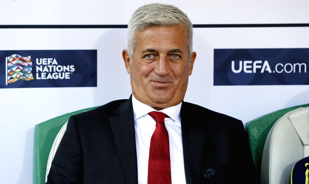 ST.Switzerland's coach Vladimir Petkovic smiles during during the UEFA Nations League group A2 match between Switzerland and Iceland at the Kybunpark stadium in St. ...