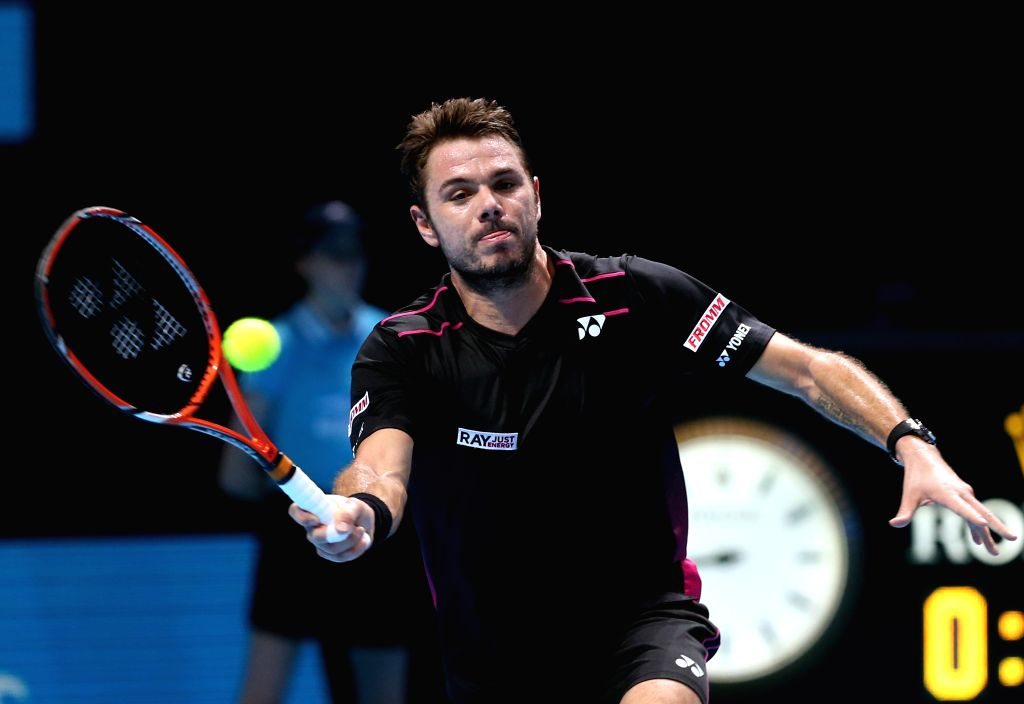 Stan Wawrinka of Switzerland competes during the match with David Ferrer of Spain at the ATP World Tour Finals at the O2 Arena in London, on Nov. 18, 2015. Wawrinka ...