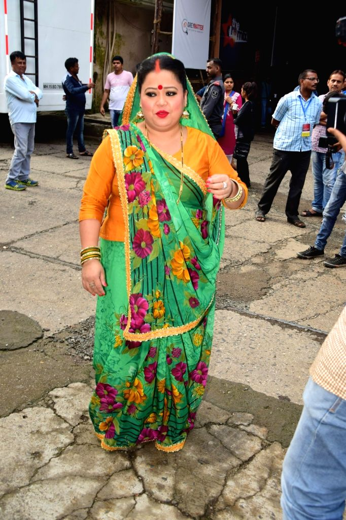 Stand-up comedian Bharti Singh on the sets of television show 'Comedy Dangal' in Mumbai on Sept 17, 2017. - Bharti Singh