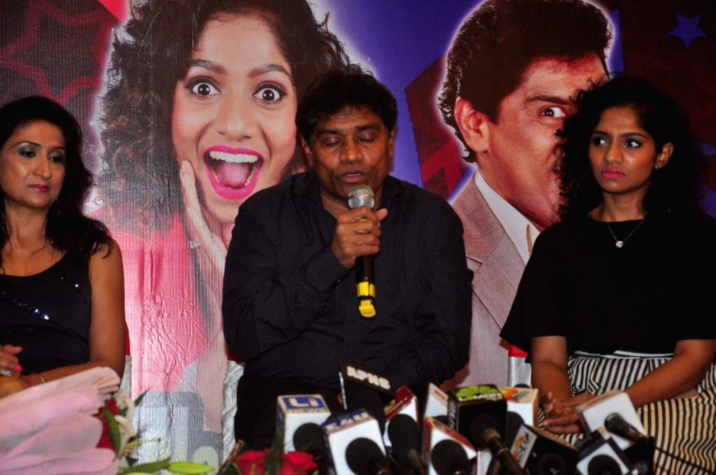 Stand-up comedian Jamie Lever and actor Johny Lever during a press conference to announce tour of The King of Comedy show in the United States of America in Mumbai on November 25, 2015. - Johny Lever
