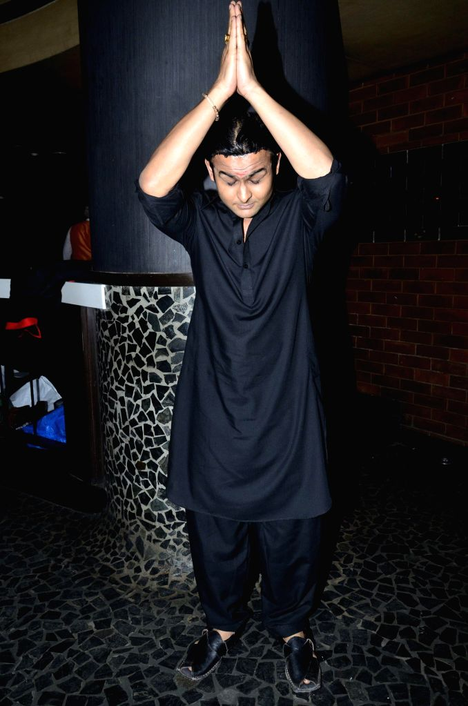 Standup comedian Dr Sanket during the launch of Zee Television serial Gangs of Hasseepur in Mumbai, on April 17, 2014.