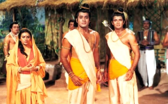 Star Bharat telecasting Ramayan.