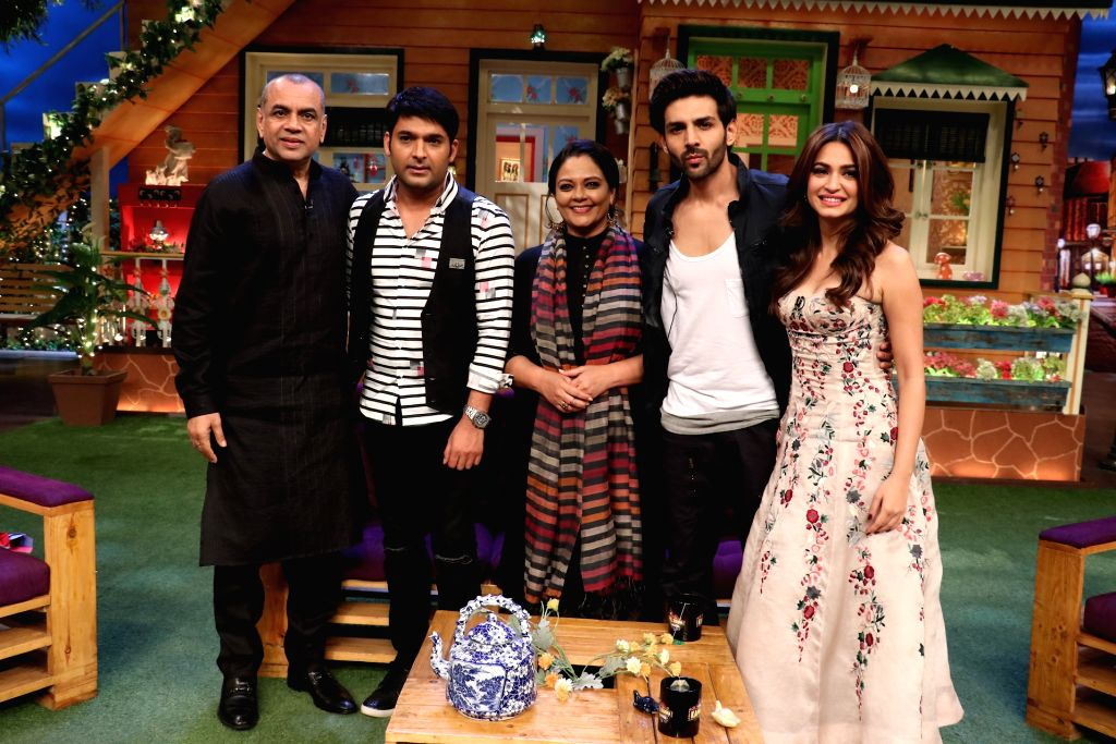 Star cast of Guest in London on the sets of The Kapil Sharma Show in Mumbai, on June 23, 2017.