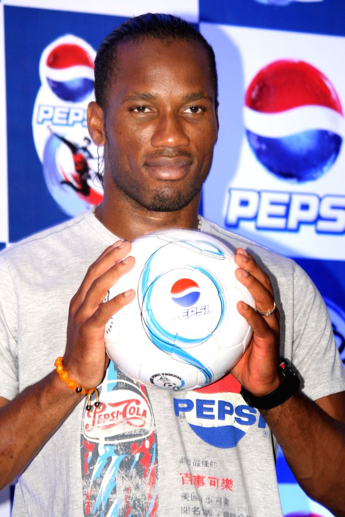 Star footballer Didier Drogba at a press conference in New Delhi on Sunday.