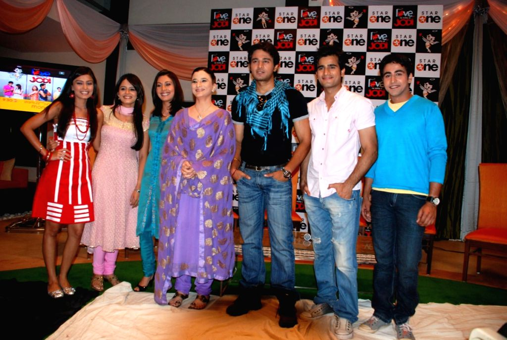 Star One launched a new serial 'Love ne mila di jodi' at Chakala in Mumbai.