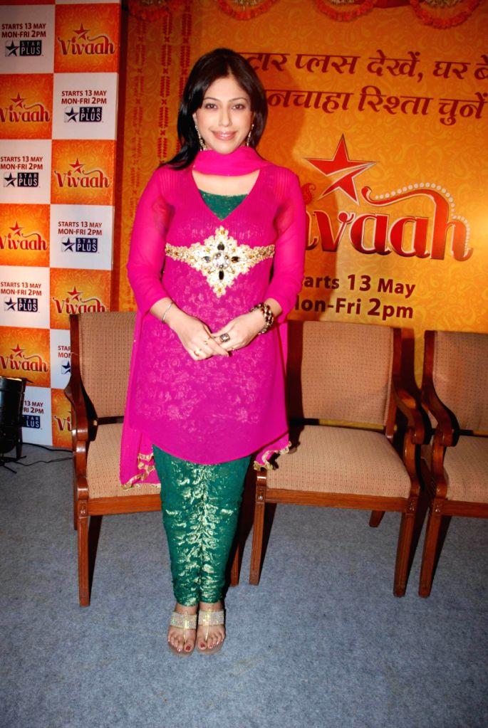 Star Plus Launches Vivaah Serial With Mohnish Behl and Aditi Shirwaikar, in Mumbai.