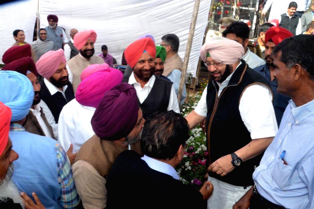 State Congress Chief Amarinder Singh during Congress Legislative Party meet in Chandigarh on March 12, 2017.