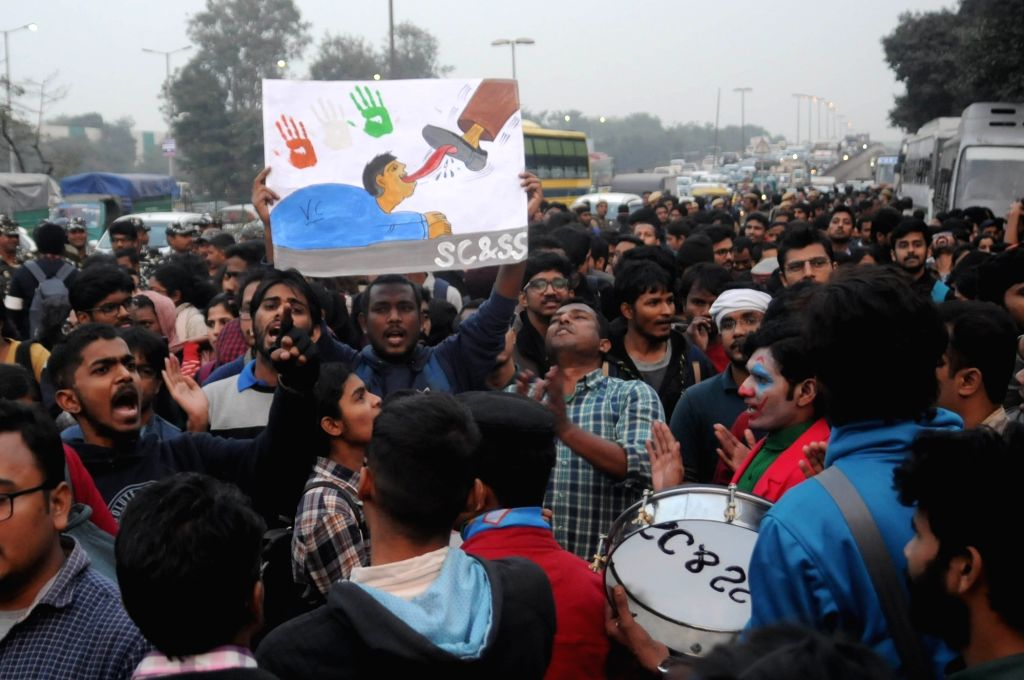 Staying true to their word, agitating Jawaharlal Nehru University students on Thursday boycotted their exams as most of the exams halls saw empty desks. (Photo: IANS)