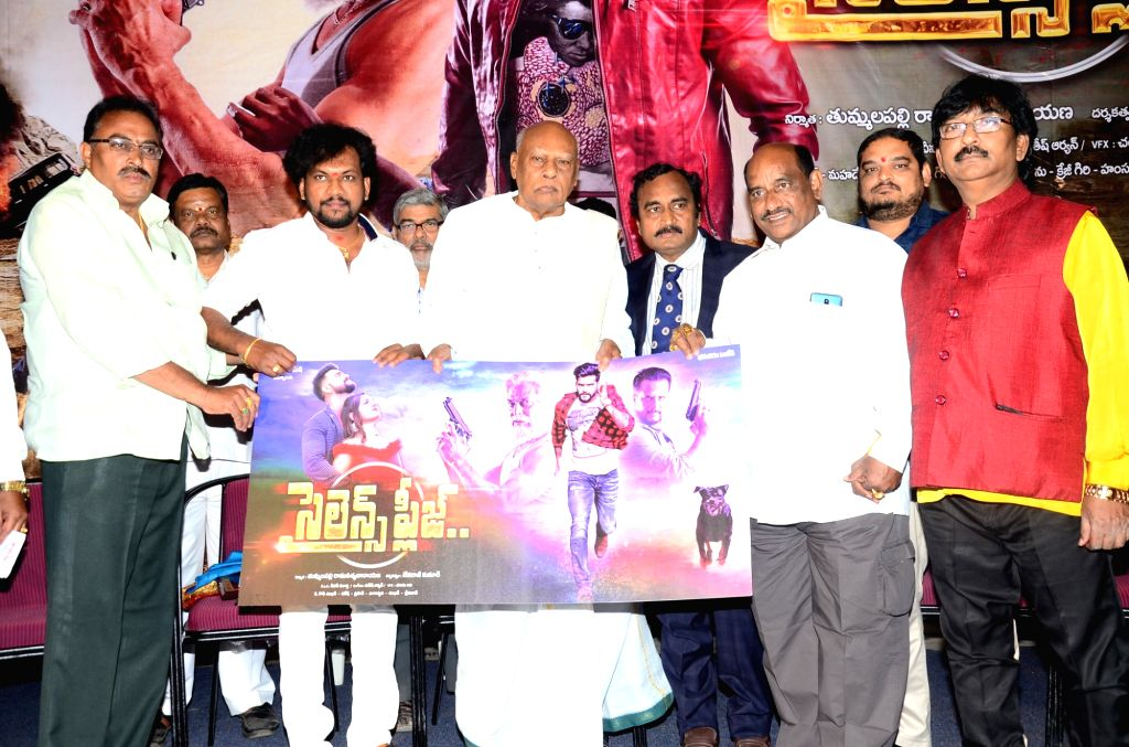 "Stills from audio launch of film ""Silence Please"" in Hyderabad."