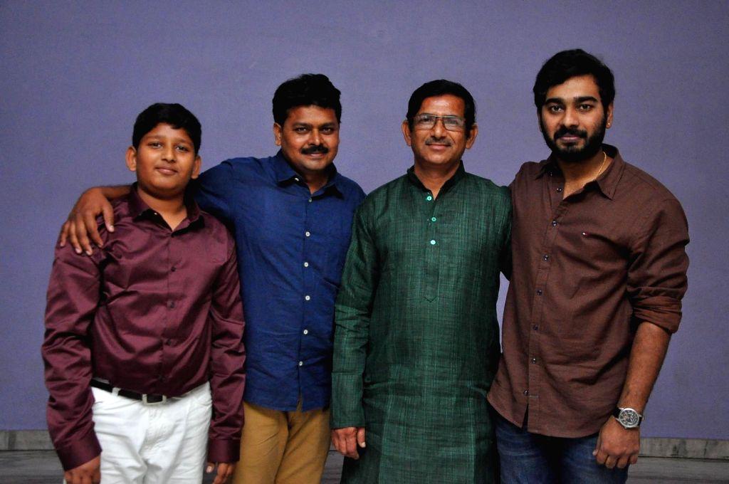"Stills from audio launch of his upcoming film ""Sivakasi Puram"" in Hyderabad."