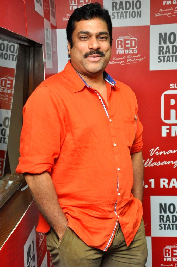 "Stills from ""Good Bad Ugly"" Team at Red FM in Hyderabad."