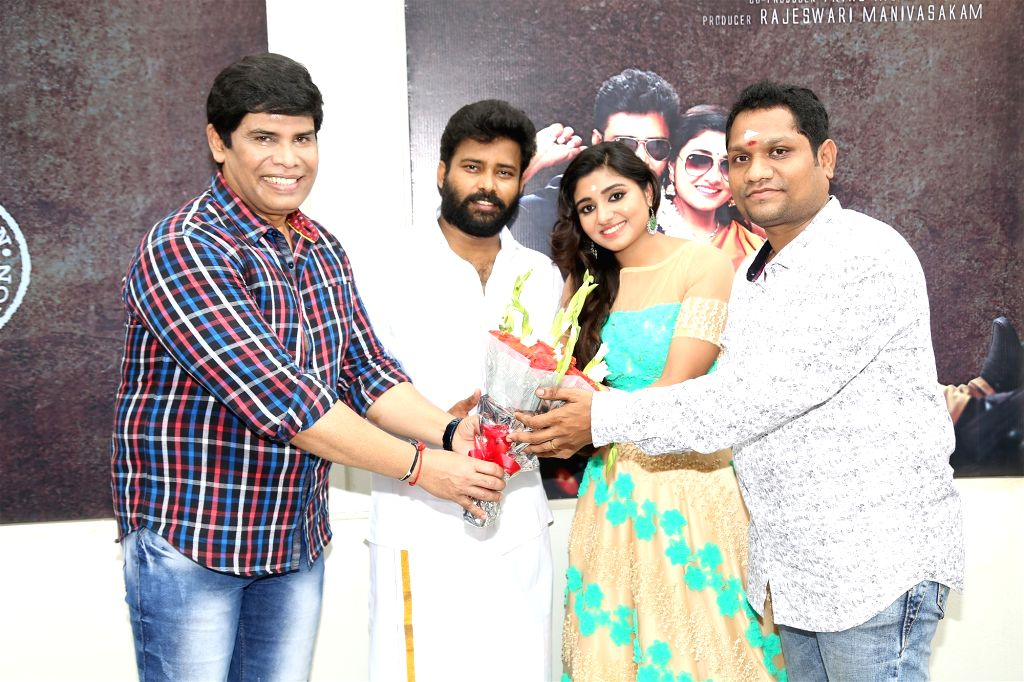 Stills from movie launch of his upcoming film 'Kalavani Mappillai' in Hyderabad.