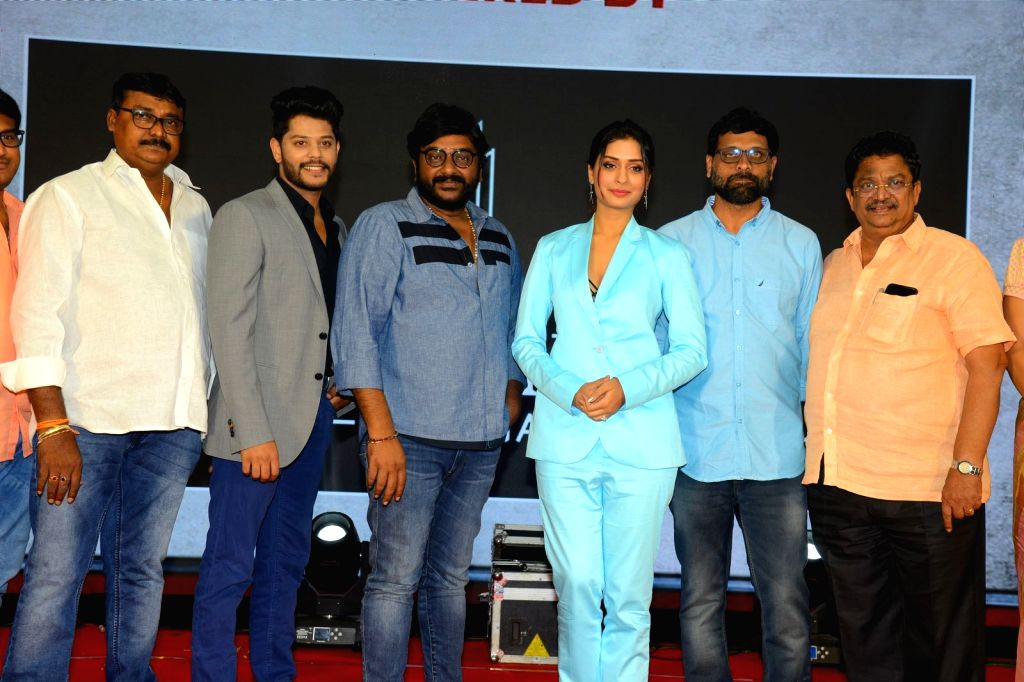 """Stills from Pre-Release Event of film """"RDX love"""" in Hyderabad."""