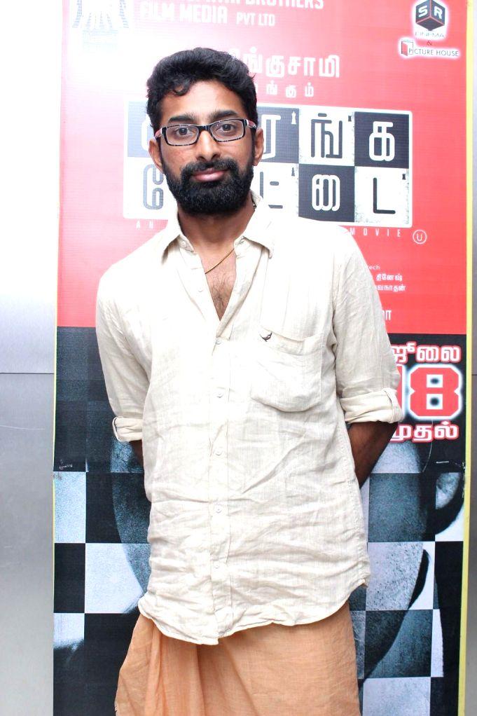 Stills from premiere of ` Sathuranga Vettai` in Chennai on July 19, 2014.