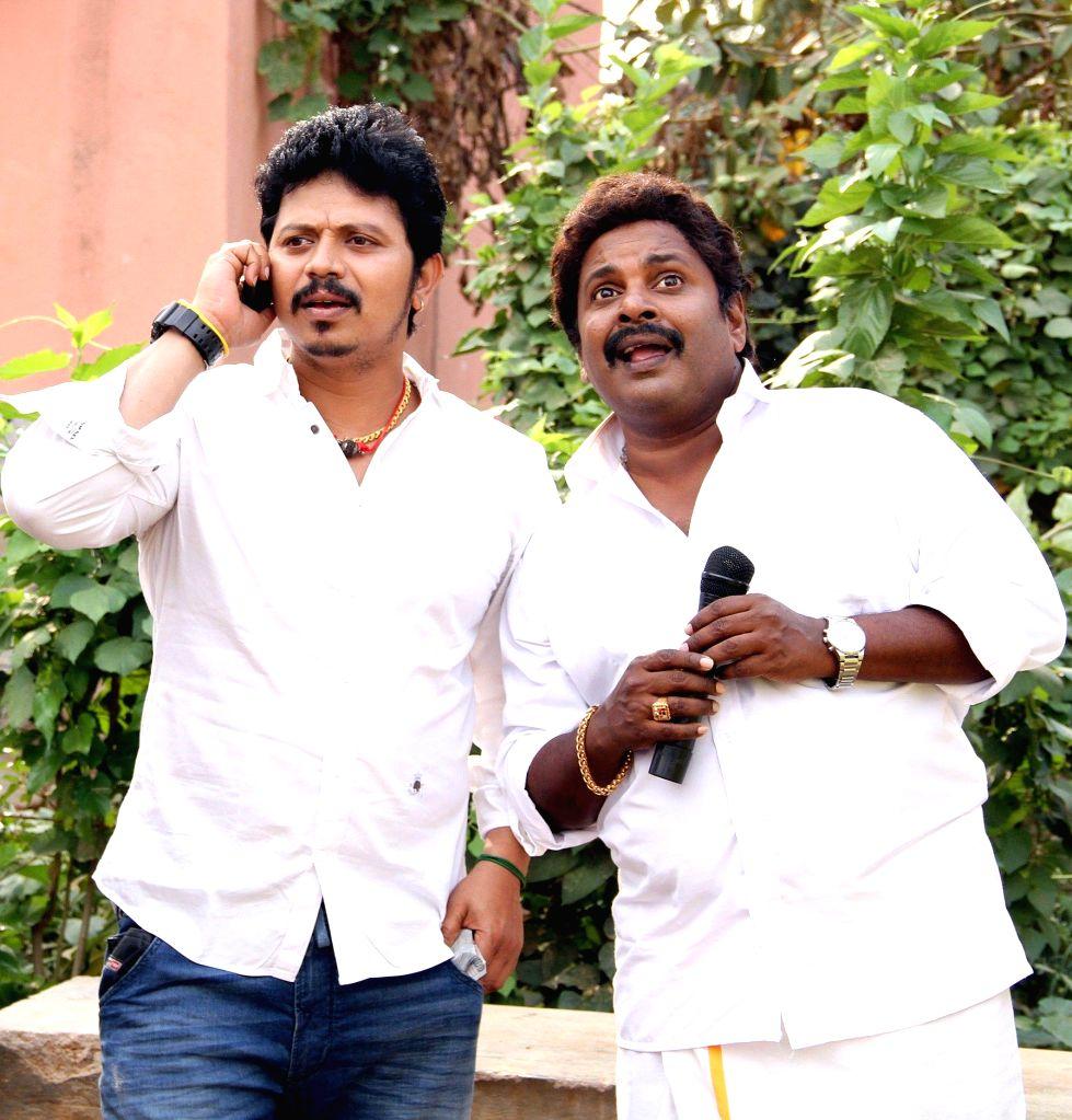 Stills from Tamil film `Pokkiri Mannan`.