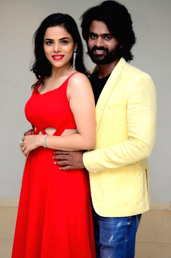 "Stills from Telugu film ""2 Hours Love"" Press Meet in Hyderabad."