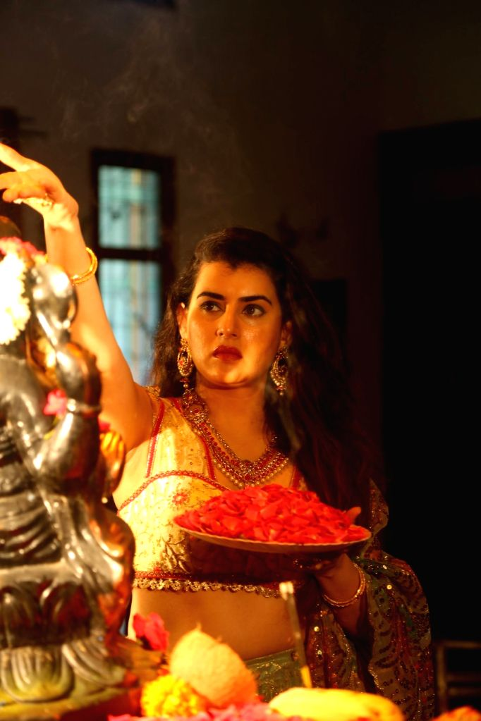 Stills from Telugu film 'Avalambika'.