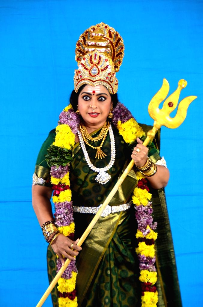 Stills from Telugu film 'Bhadrakali' in Hyderabad.