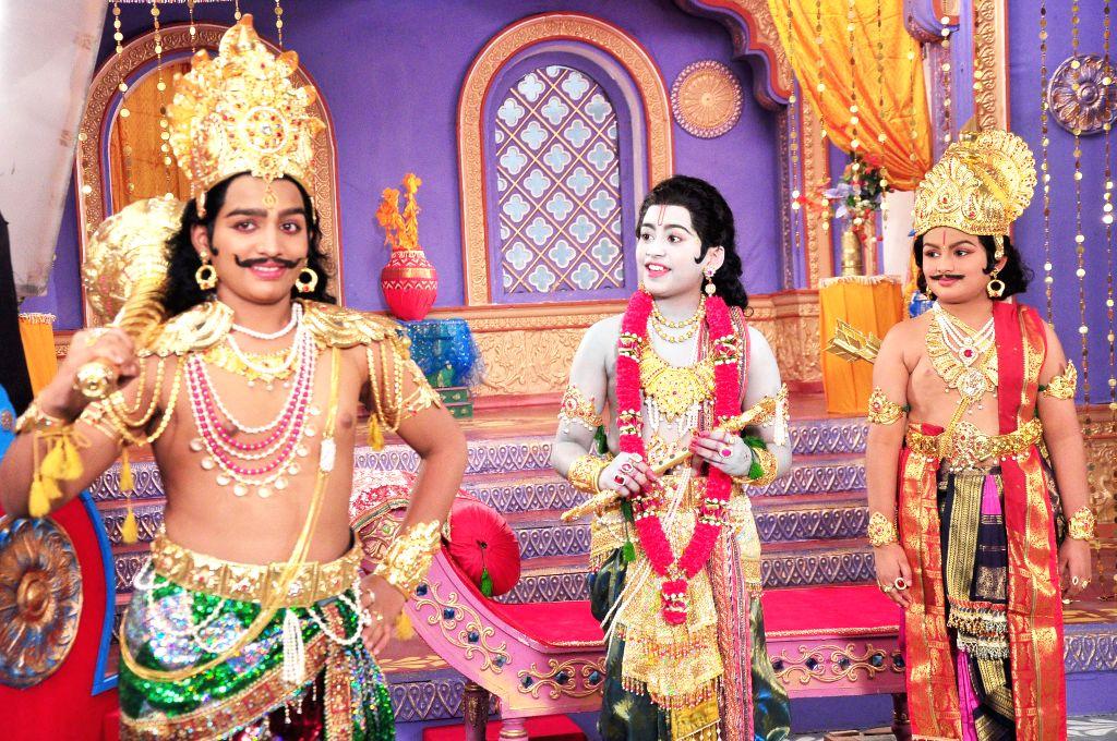 Stills from Telugu film `Daana Veera Soora Karna`.