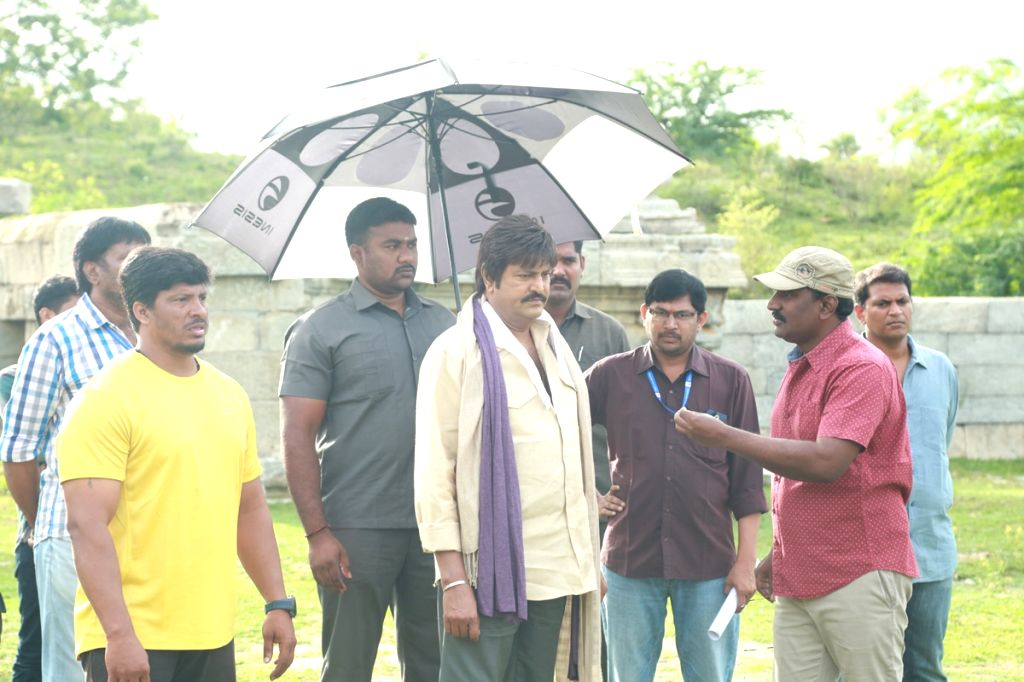 "Stills from Telugu film ""Gayatri"" in Hyderabad."