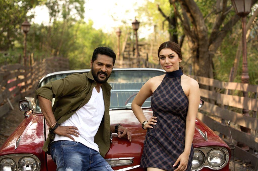 Stills from Telugu film 'Gulaebaghavali' in Hyderabad.