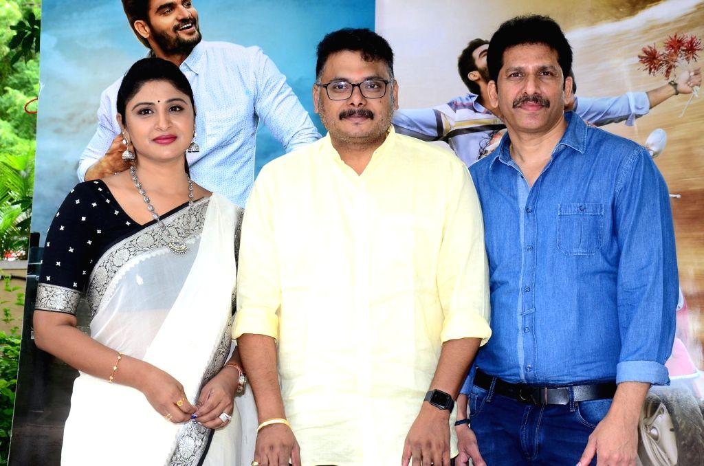 "Stills from Telugu film ""Guna 369"" Press Meet in Hyderabad."