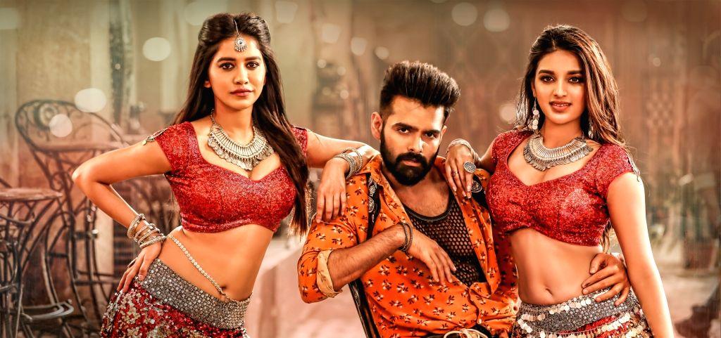 """Stills from Telugu film """"iSmart Shankar"""" in Hyderabad."""